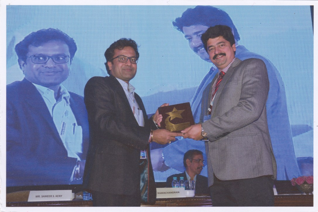 Mr. Sameer Keny being felicitated by FAFAI